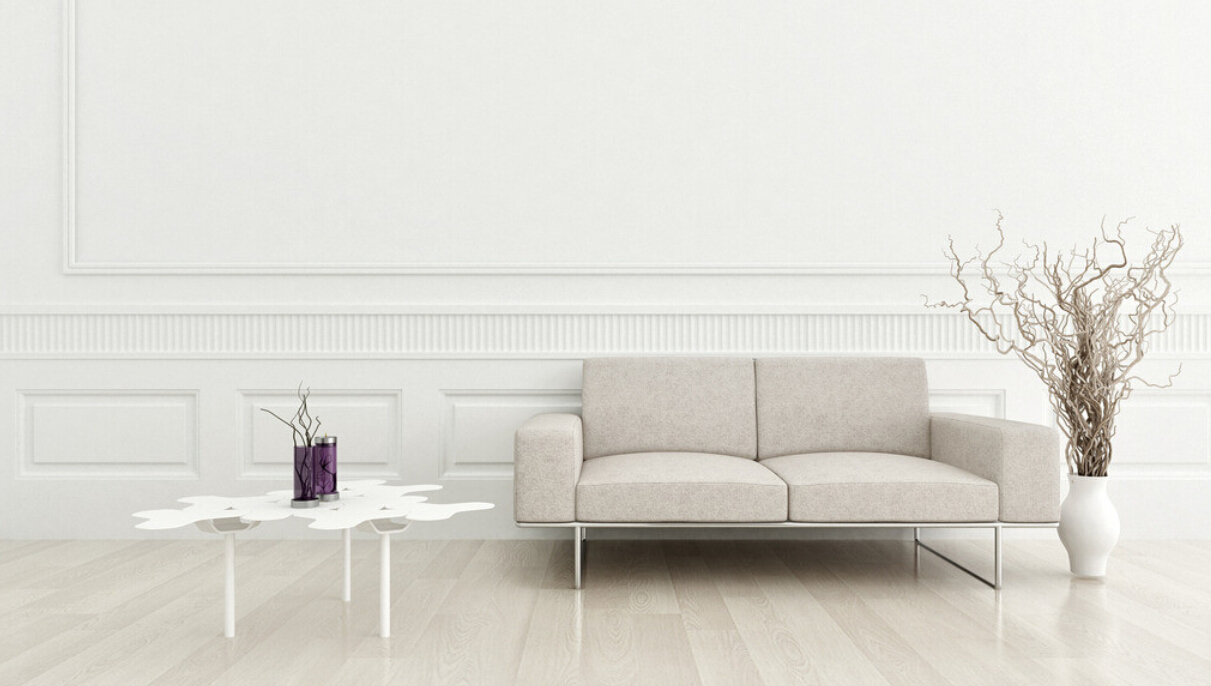 Simple-white-living-room-wall-design